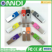 custom plastic 16GB usb 2.0 & swivel usb flash drive