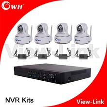 China top ten selling products 8CH H.264 NVR kits with 4PCS MP PT Wifi DOME HD IP Cameras