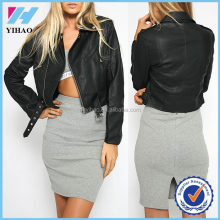 wholesale women clothe leather jacket low prices women black jacket