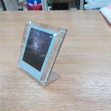 custom china factory price latest attractive acrylic glitter L shaped slant photo bent frames