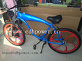 2.4L 3.75Lgas tank built bike with mag wheel for sale/complete bike with blue color