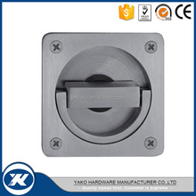 soilid casting satin stainless steel inset flush pull handle