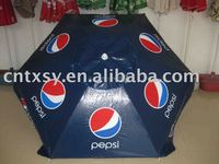 Advertising beach umbrella with PEPIS printing with pvc fabric