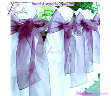 dark purple wholesale satin chair cover sashes, cheap satin chair sashes for special events, wedding chair covers