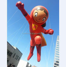 2018 Hot sale Inflatable flying super woman baloon,giant apple shape helium balloons
