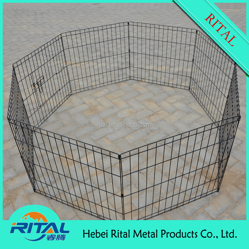 Metal Wire 8 Panels Pet Folding Exercise Yard Fence