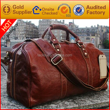 large capacity fashionable leather travel bag duffle bag