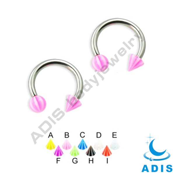 Colorful Ball Spiral Twister S Nose Ring Ear Studs