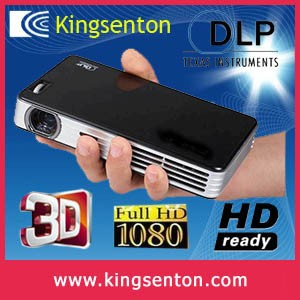 1000 ANSI Lumens LED DLP FULL HD TV Mini Beam Projector