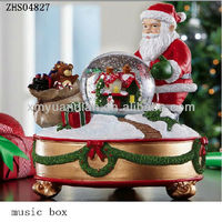 Polyresin Christmas Music Box For Christmas