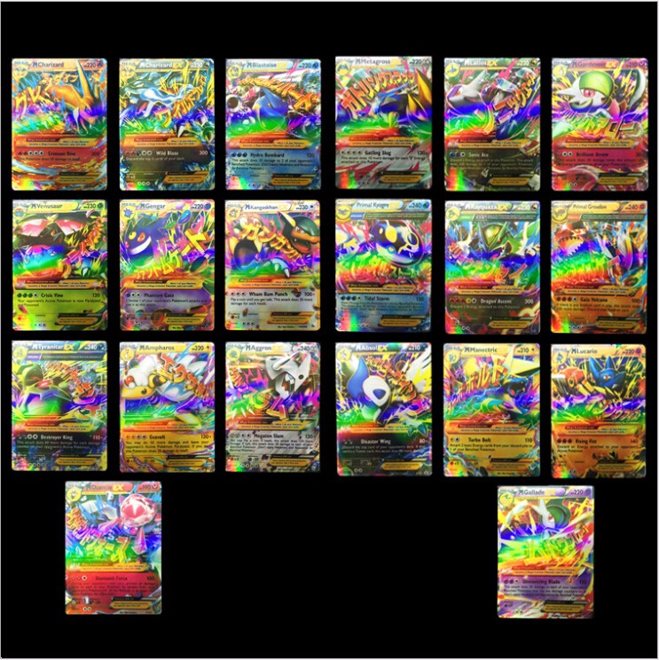 wholesale new arrival 20pcs/pack pokemon go EX card playing cards