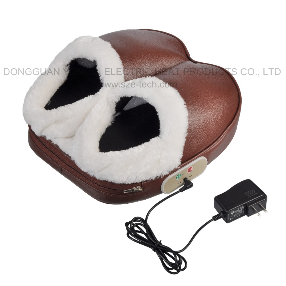 LED indicated Electric pulse Heating Foot warm Massager with 5 different vibration intensity modes