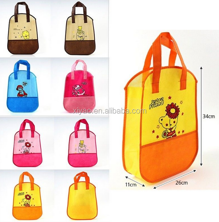 2015 Cute Fabric Reusable Shoes Slipper Storage Portable Travel Bag Pouch Kids Children Student kids bag