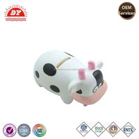 ICTI Factory Custom Creative Plastic Milk Cow Shape Money Box