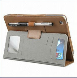 Notebook Leather Case for iPad Mini, leather cover for iPad Mini,Made of PU Material