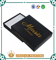 High Quality 300 GSM Hot Stamping Logo Paper Packaging Boxes Wholesale For Clothing