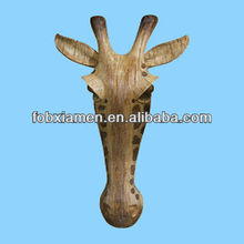 Giraffe Resin Animal Head Wall Decoration