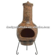 terracotta tandoor oven with metal stand