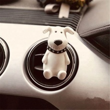 Newly Designed Dog Shaped Ceramic Scented Car Vent Clip Aroma Diffuser Air Freshener