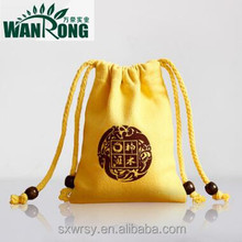 Eco-friendly small packaging bags colorful cotton canvas drawstring bags