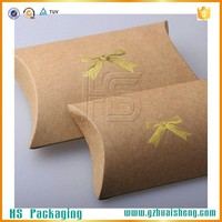 Custom kraft paper pillow box/pillow boxes custom print/pillow boxes wholesale