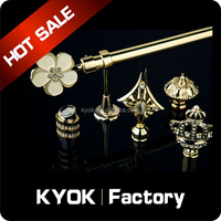 KYOK luxury turkish ready made wholesale window curtain rod