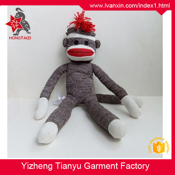 The new classic wool fabric high grade plush Sock monkey toy