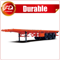 High quality 40 ft flatbed container semi trailer container trailer