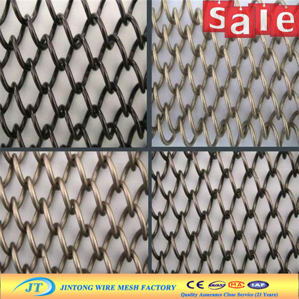 JT Decorative chain link curtain/woven decoration mesh/Chain Link Mesh For Decoration