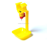 hot sale automatic chicken nipple drinkers with cup , poultry drinkers