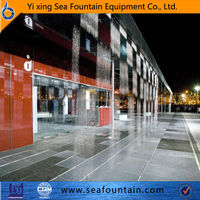 contemporary Chinese digital water curtain fountain program indoor