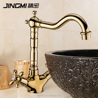 JM029 Dual handle Cold And Hot Water Brass bathroom wash Kitchen Faucet