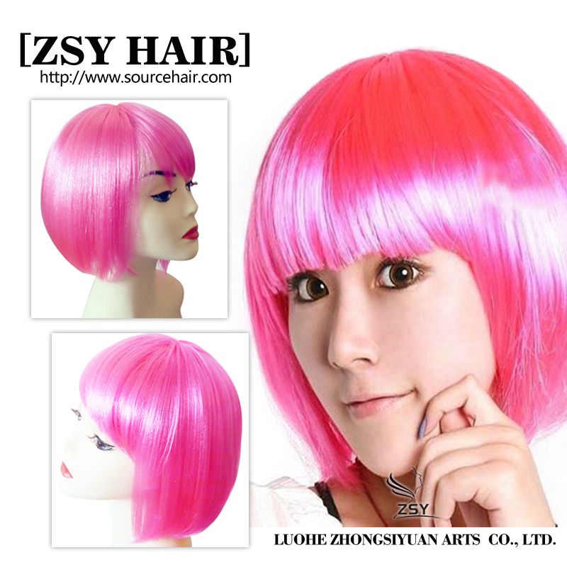 2016 bob party wigs cosplay party wigs hair, cheap colorful party wig
