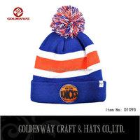 Goldenway 2016 new design custom logo Knit Beanie Hat
