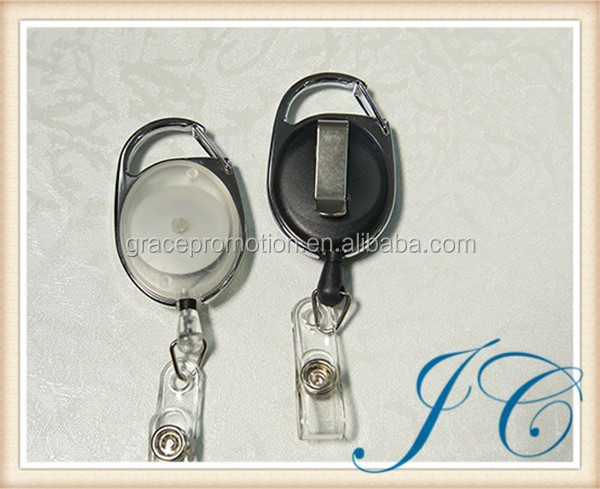 New design retractable plastic badge holder and string badge holder with light dolder