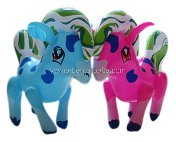 Stock PVC inflatable horse toys for kids