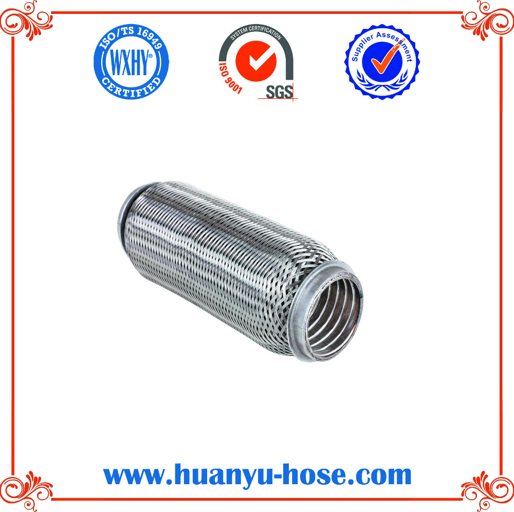 Exhaust flexible pipe for exhaust system cooler and vibration