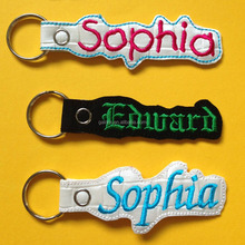GK288 promotion items embroidered names key tag