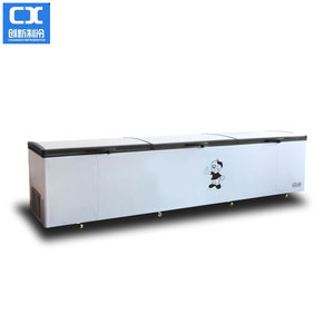 r134a refrigerant gas Three foaming Top open door chest freezer for ice cream