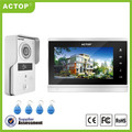 "ACTOP 2017 newest night vision touch screen color 7"" video doorbell with RF reader"