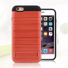 Factory price 3 in 1 hybrid shockproof belt clip case for iphone 6 plus , pc tpu armor case for iphone 6 case