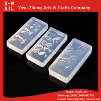 New 3D Nail Art Stamping Decoration Mold 134 Styles Cute Design 3D Nail Stickers Silicone Mould for DIY Nail Art Manicure