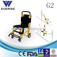 medical aluminum alloy collapsible stair chair with track belt