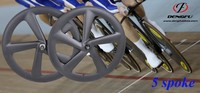 DengFu fix gear Track Bike Carbon 5 Spoke Wheels