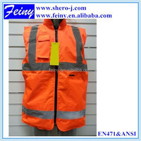 manufacturer wholesale reversible good quality safety vest motorcycle