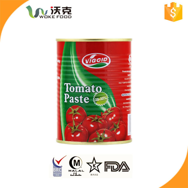 Seasoning tinned tomato paste to tomato sauce 70-3000g