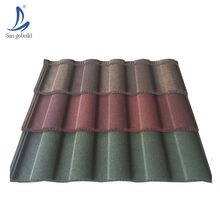 Unfaded color China stone coated roof tile in Nigeria/soundproof roofing sheets