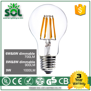a60 10w 1000lm e27 2700k 4000k 6500k led filament bulb dimmable buy led filament bulb led. Black Bedroom Furniture Sets. Home Design Ideas