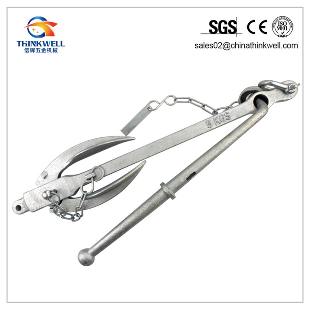 Hot DIP Galvanized Stock Anchor with Foldable Flanks