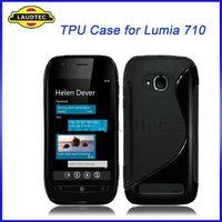 TPU Case for Nokia Lumia 710, S Type Design Wave Gel Cover